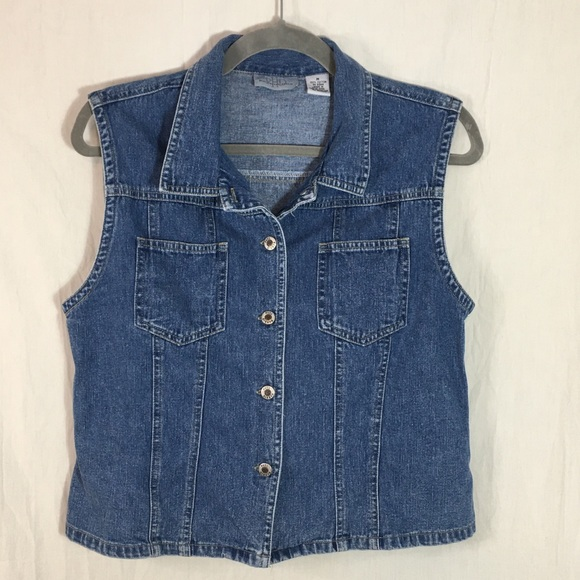 Paul Harris Denim Jackets & Blazers - Paul Harris Denim Women's Vest Size M